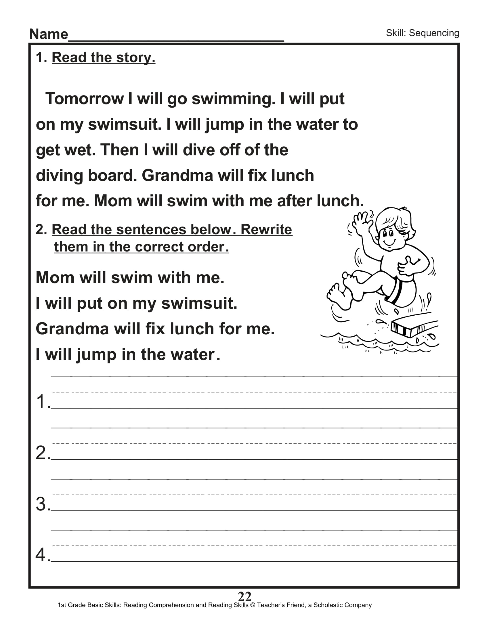 18 Free Grade 1 Comprehension Worksheets