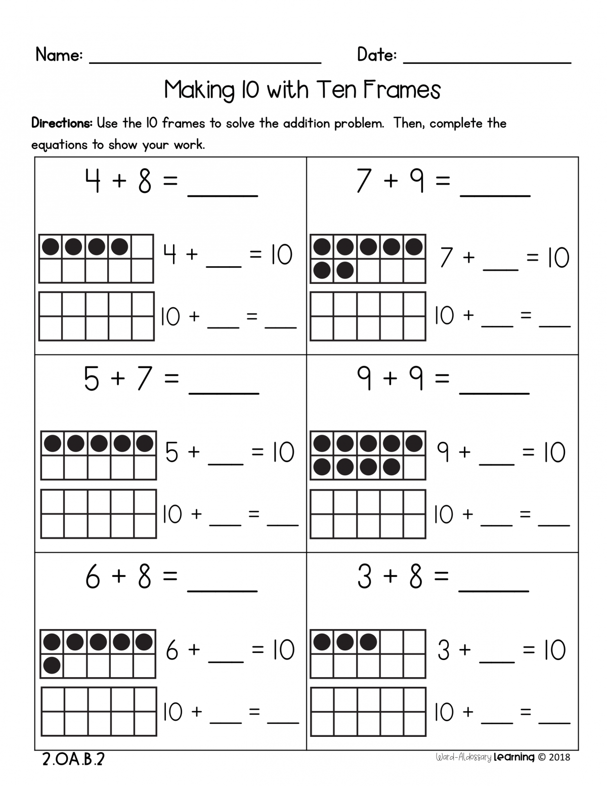 Addition Activities For 2nd Grade Worksheets