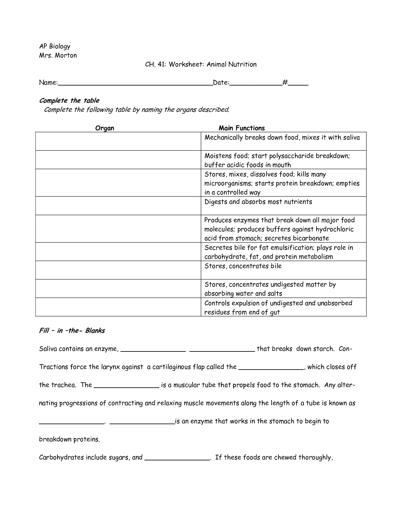 13 Best Images Of Nutrition Worksheets For 4th Grade