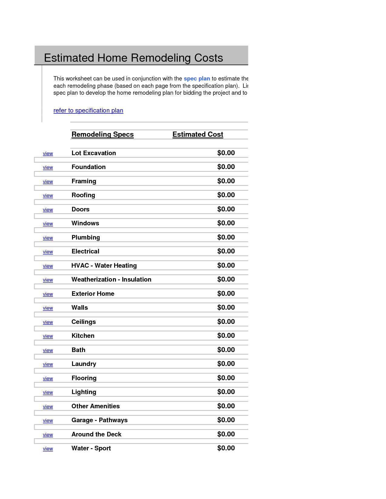 18 Best Images Of Detailed Budget Worksheet