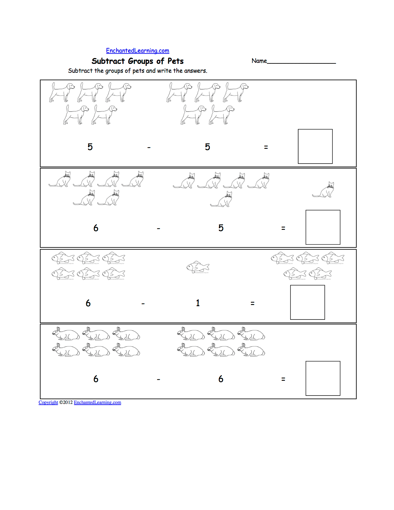 11 Best Images Of Kindergarten Animal Worksheets