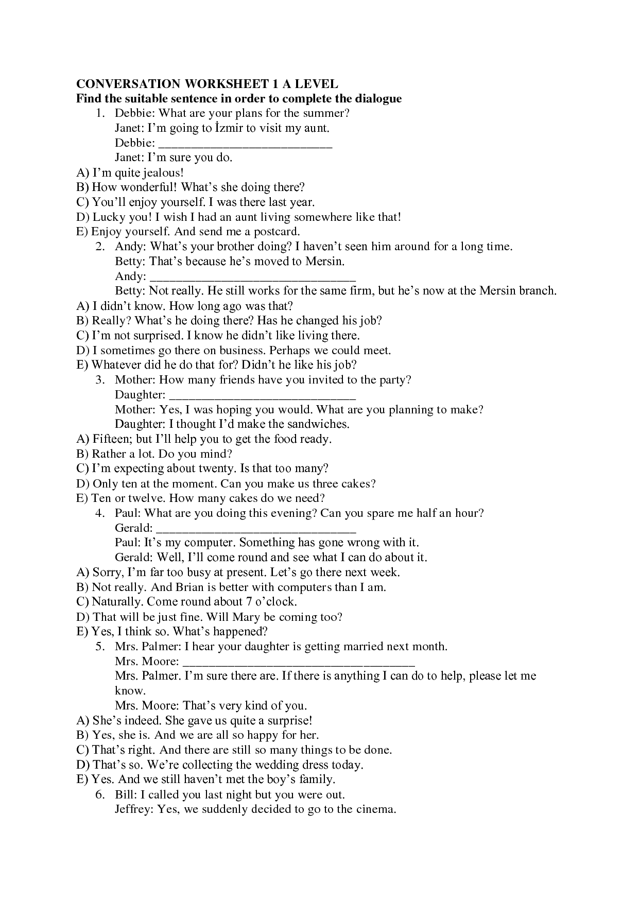 14 Best Images Of Basic Spanish Conversation Worksheets