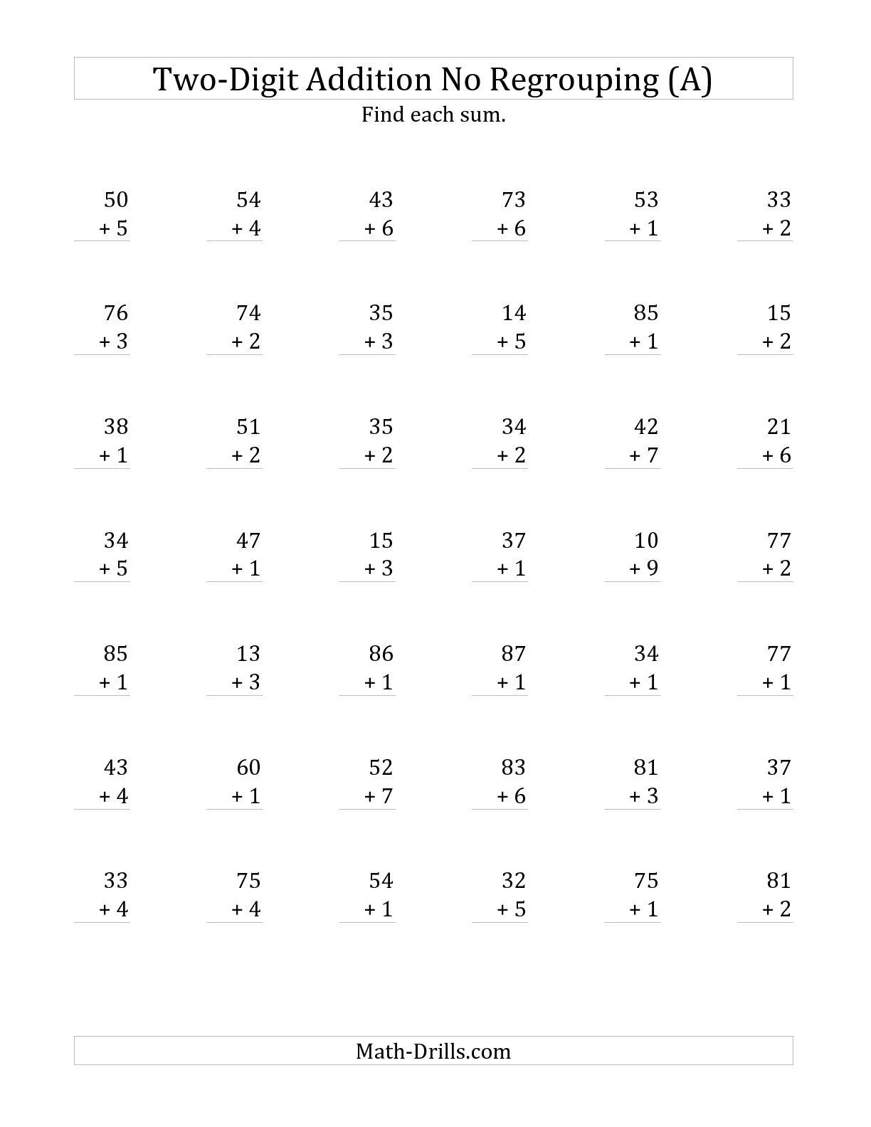 17 Best Images Of 1 Digit Math Worksheets