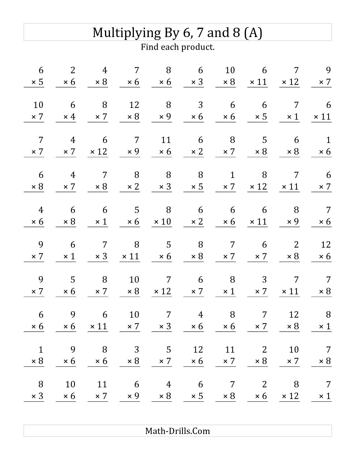 10 Best Images Of Timed Multiplication Worksheets