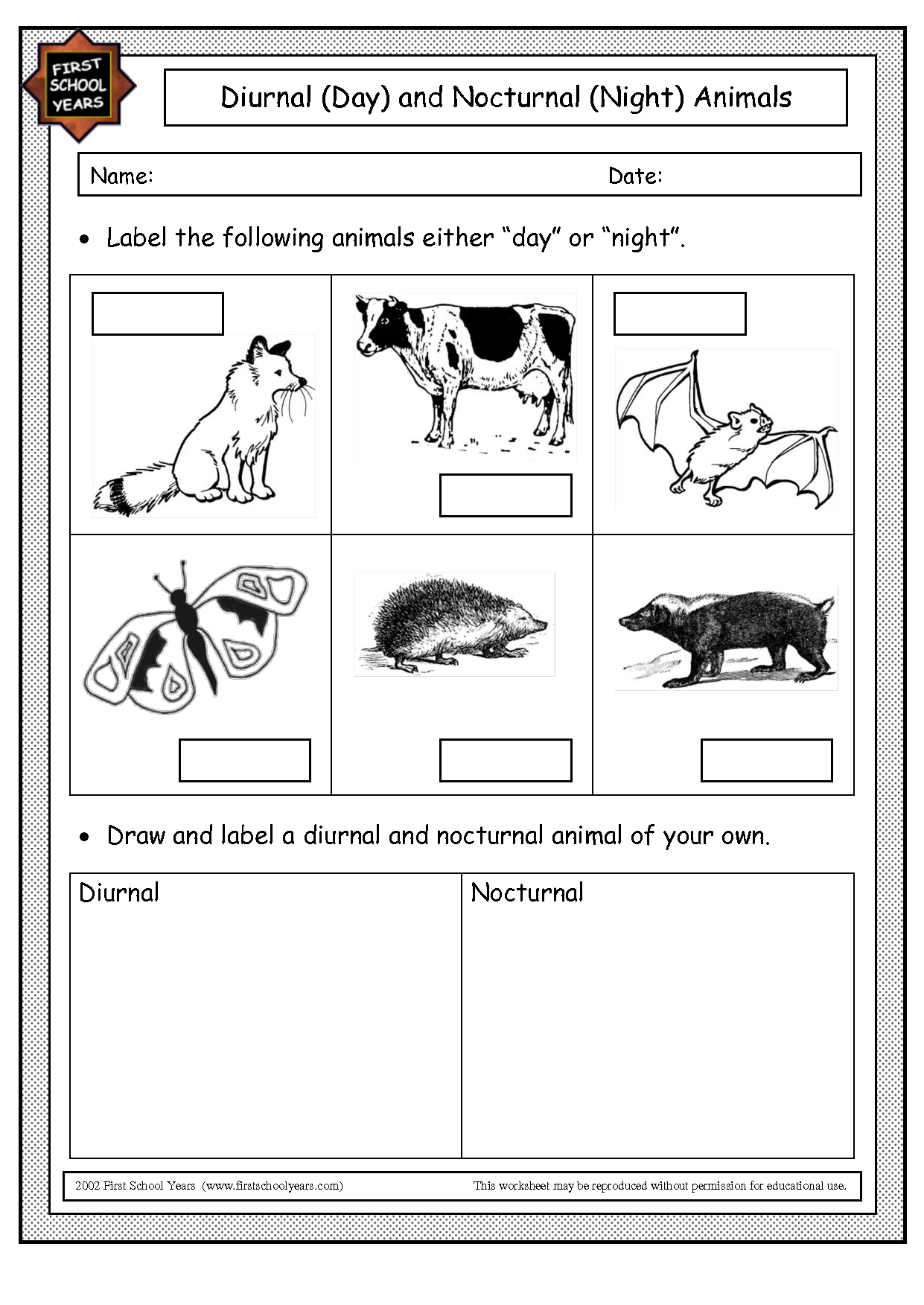 Preschool Worksheet Animal Vs Plant