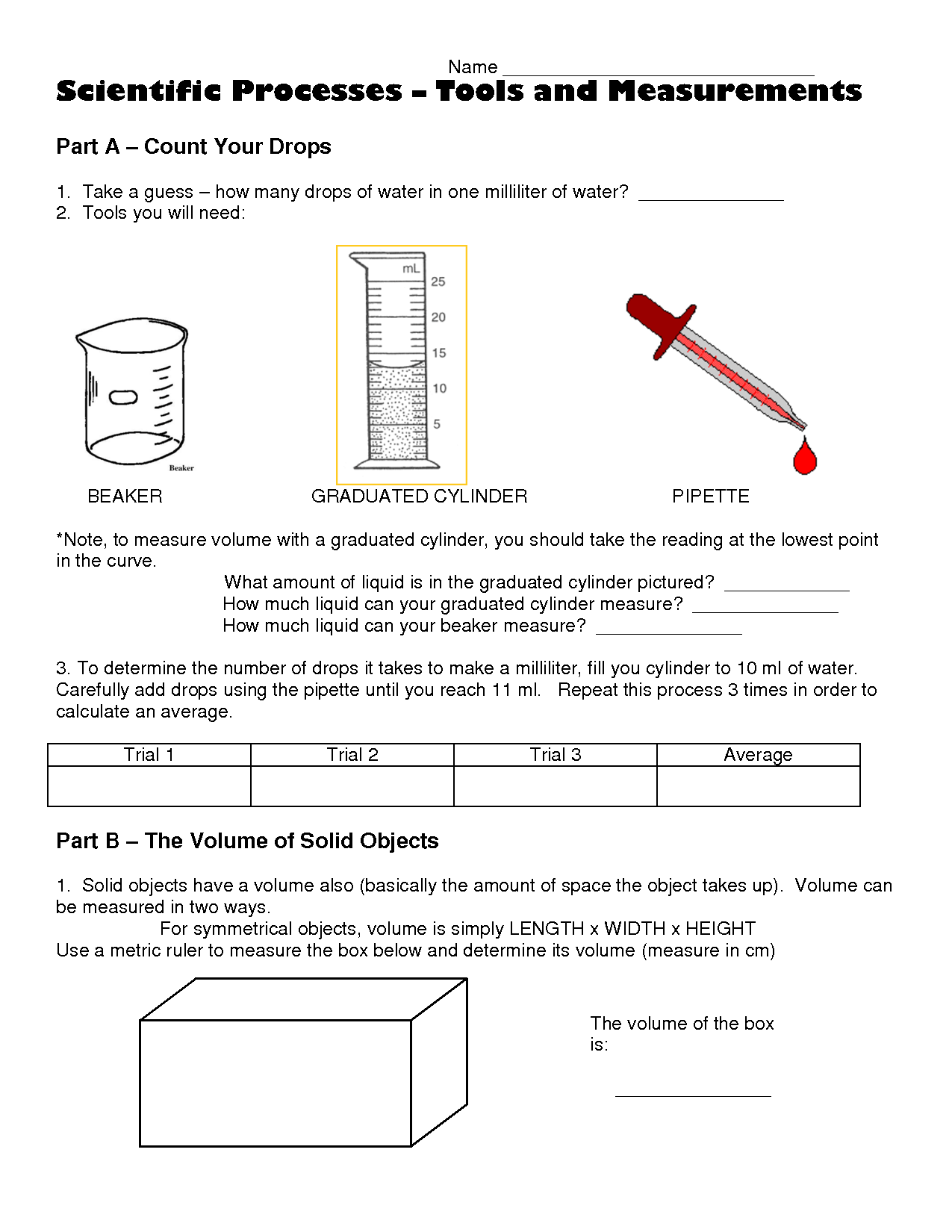 16 Best Images Of Graduated Cylinder Worksheet
