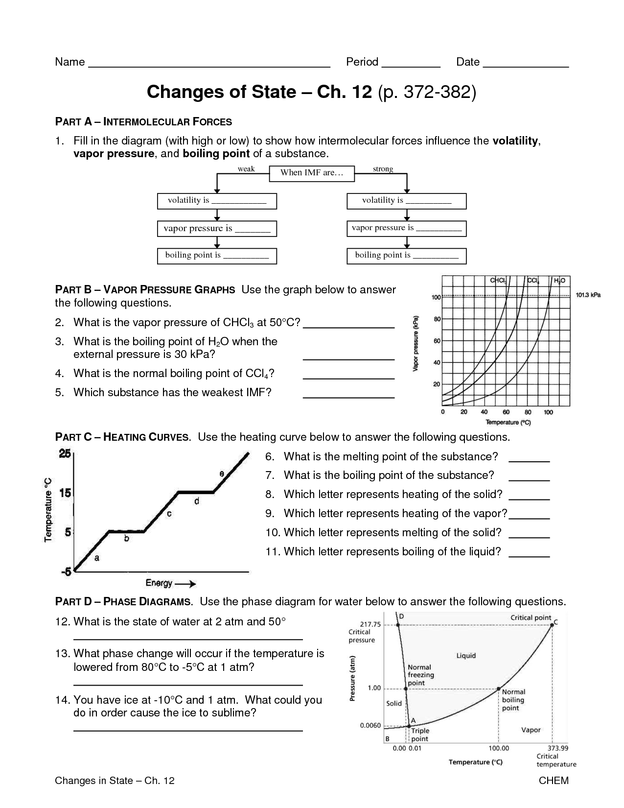 Worksheet Middle School Matter And Energy