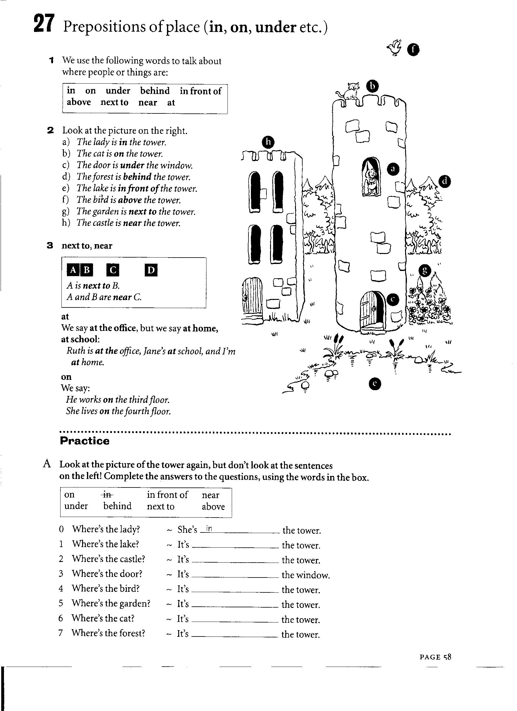 14 Best Images Of Esl Prepositions Of Place Worksheets