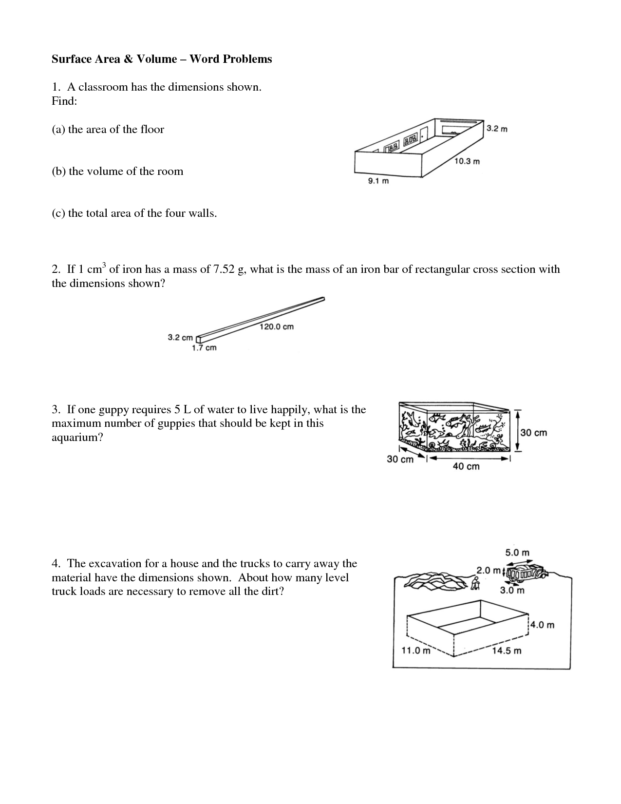 13 Best Images Of Surface Area Word Problems Worksheet