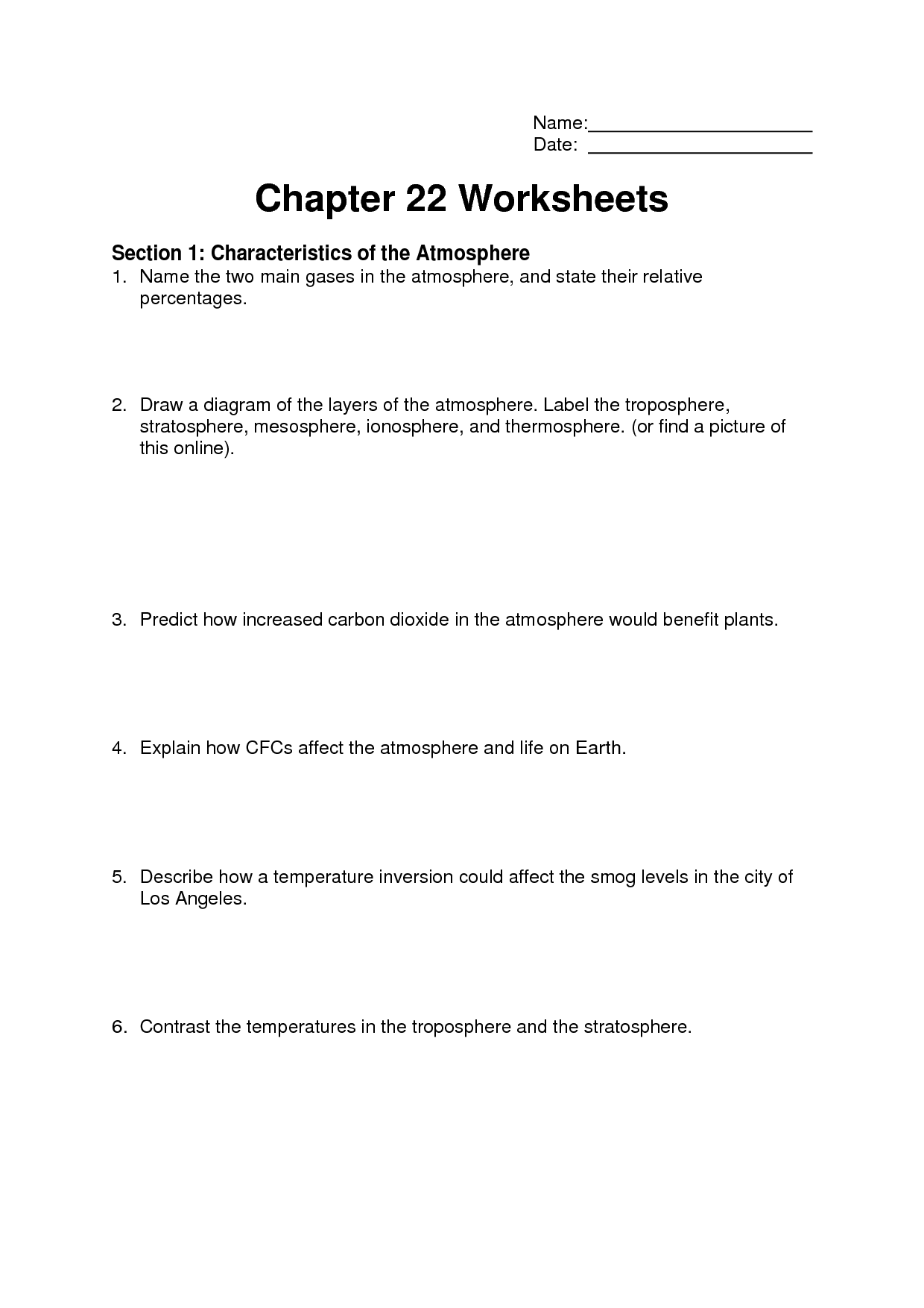 7 Best Images Of Weather Worksheets And Printable Label