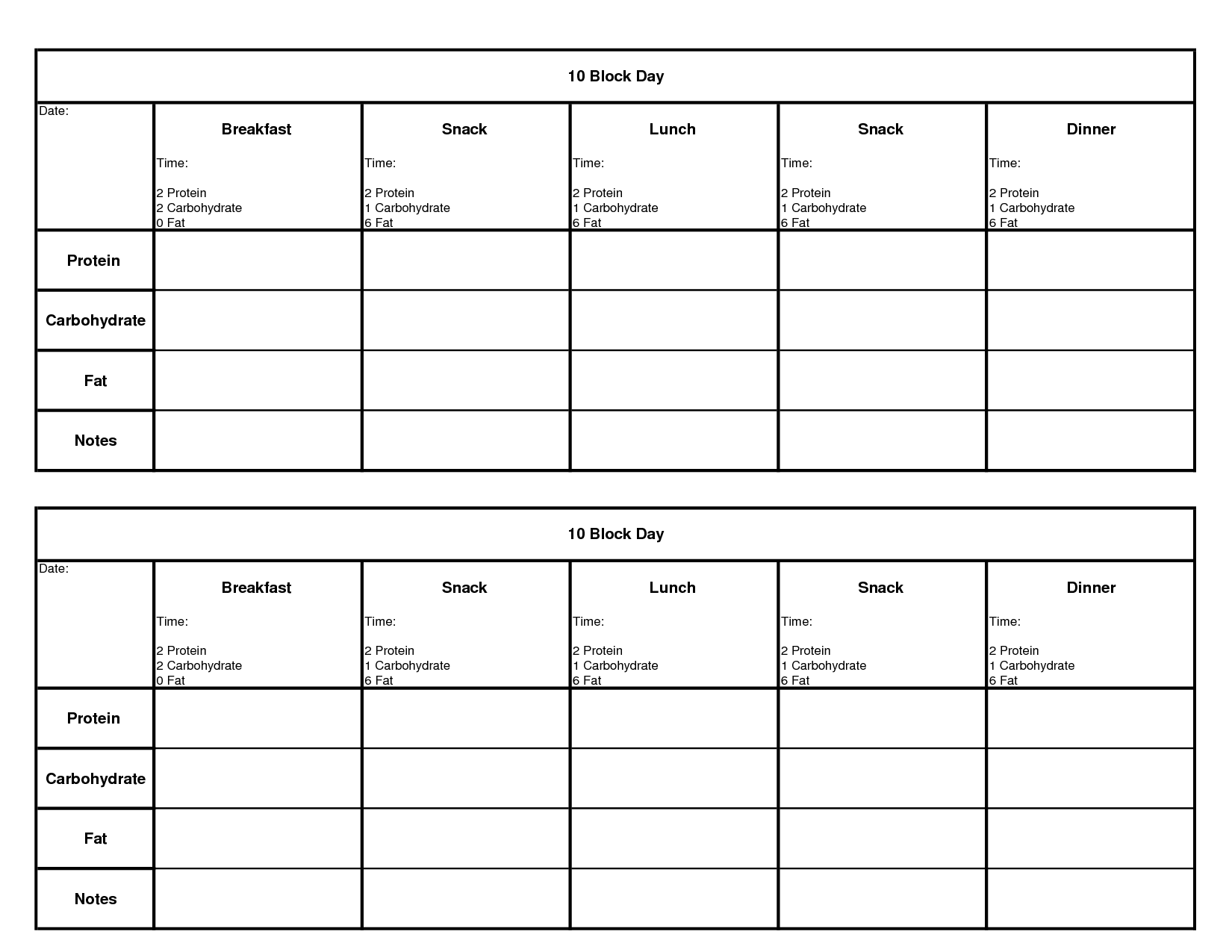 Restaurant Food Tracking Worksheet
