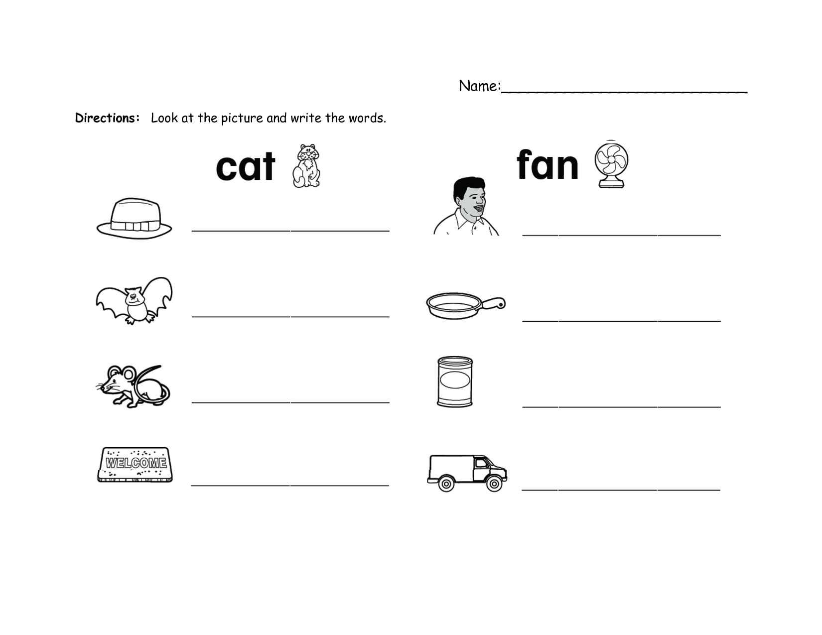 It Word Family Worksheet
