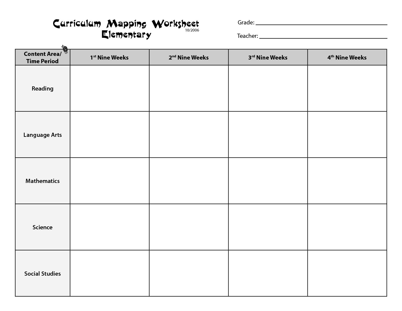 Worksheet For Elementary Teachers