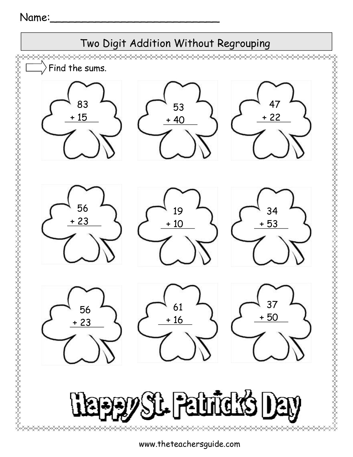 19 Best Images Of 2 Digit Addition Worksheets No