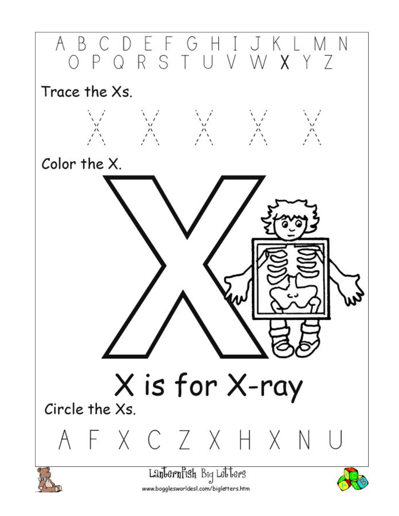 17 Best Images Of Printable Letter X Worksheets