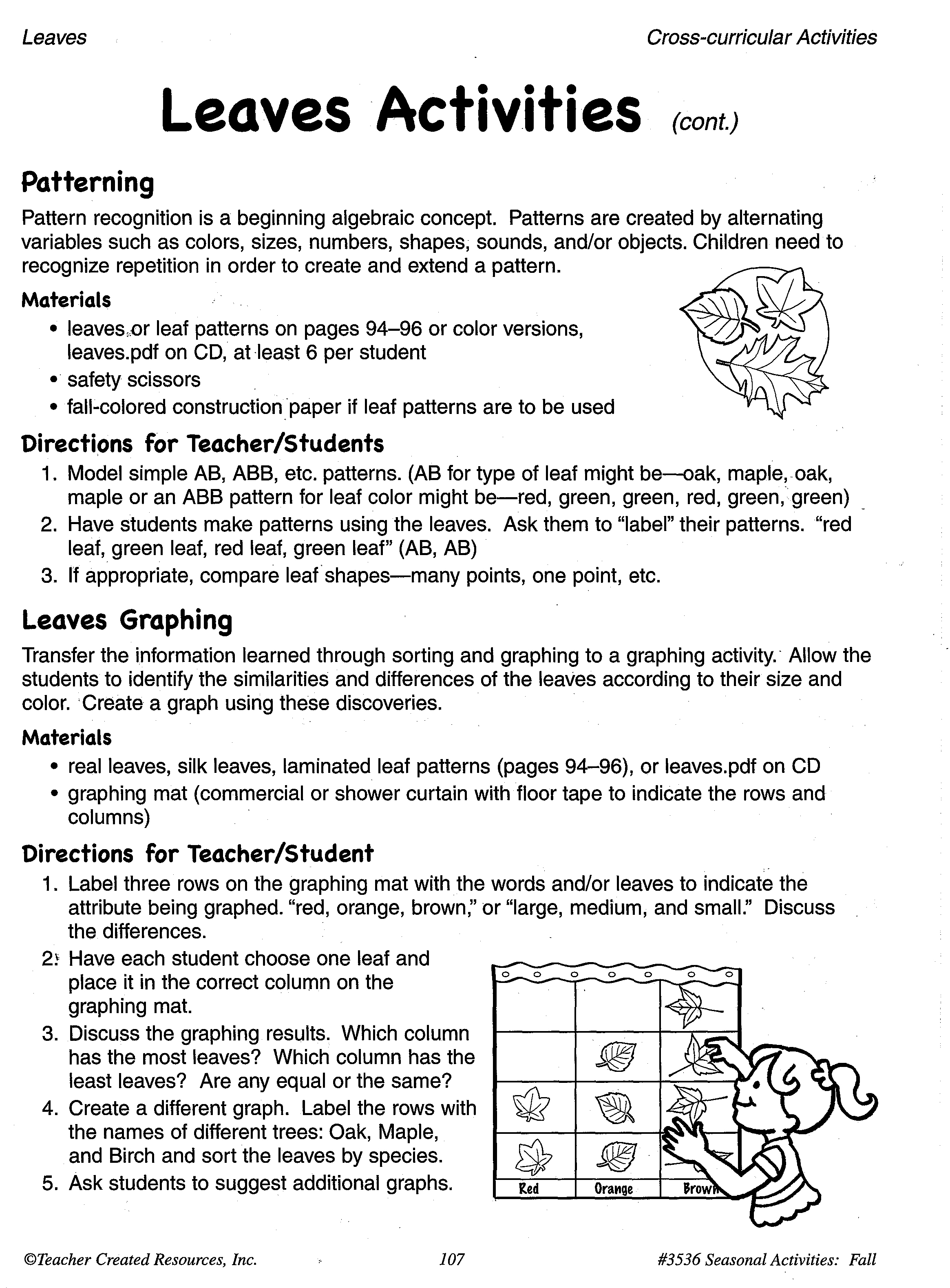 12 Best Images Of Fall Pattern Worksheets