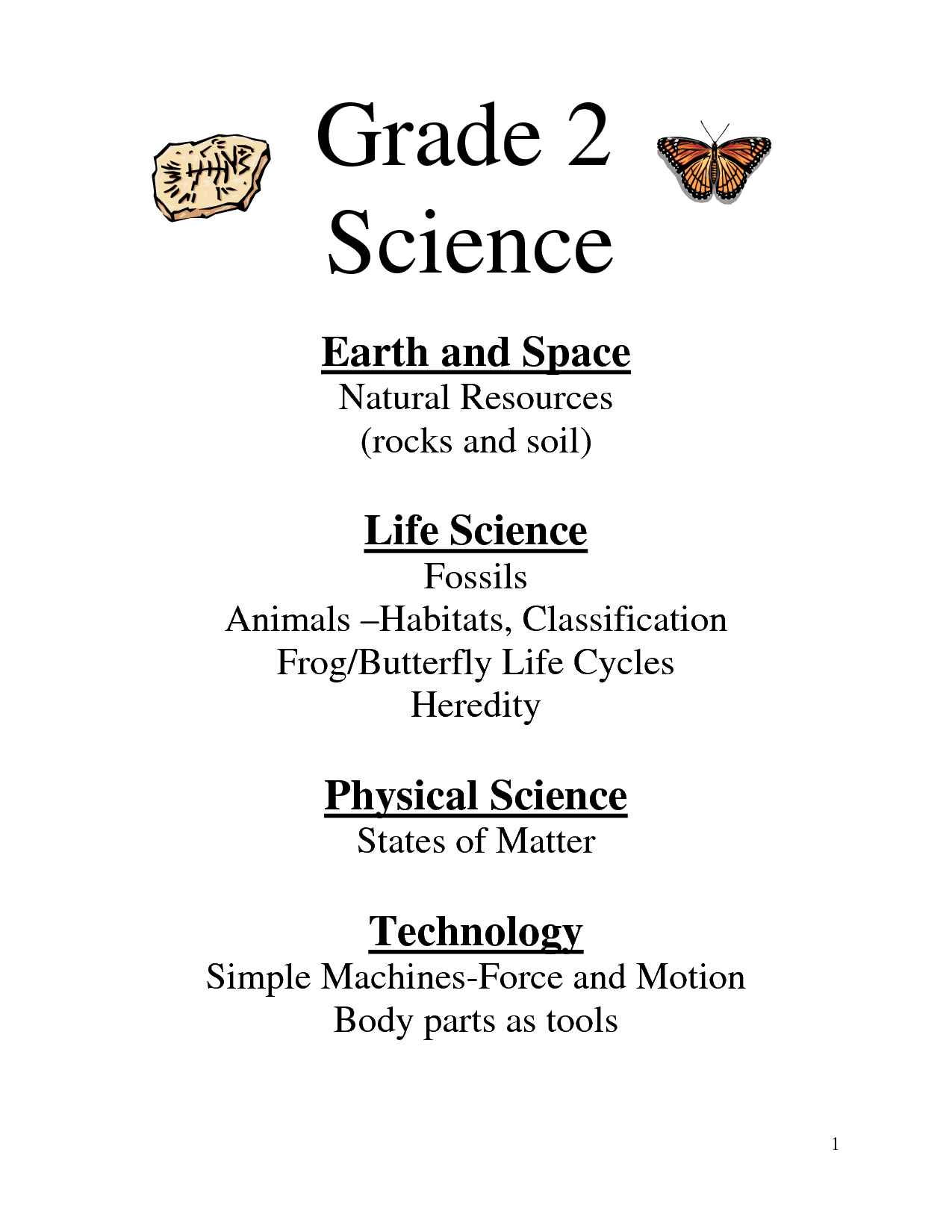 Worksheet Grade 2 Science