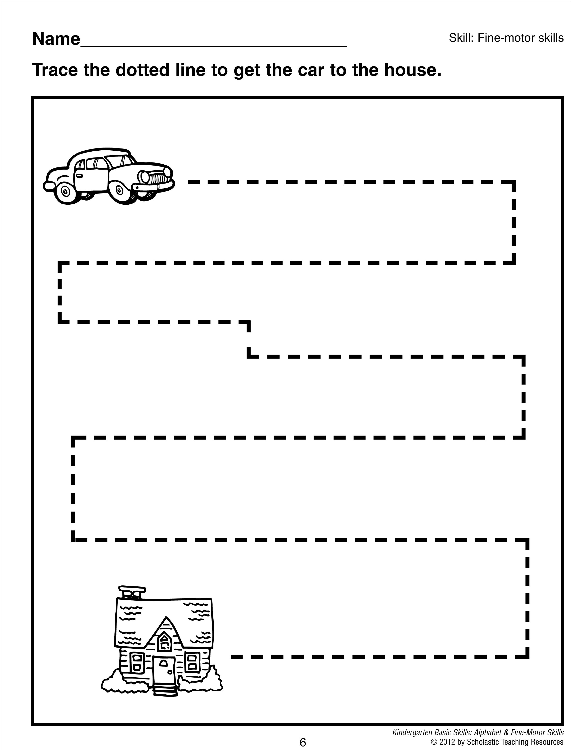 10 Best Images Of Simple Cutting Worksheet For Kindergarten