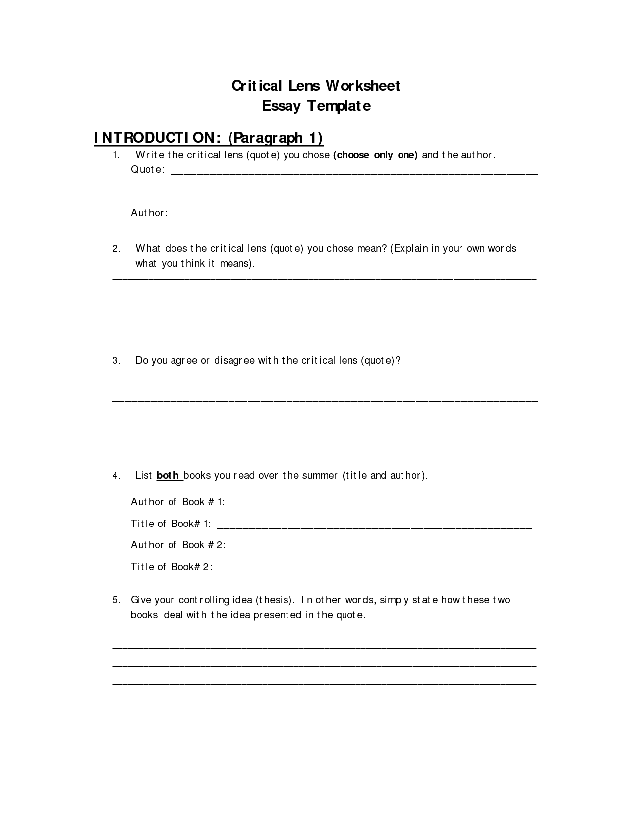 11 Best Images Of Introduction Paragraph Worksheet