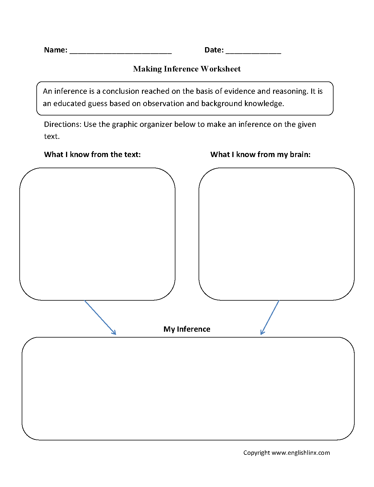 14 Best Images Of Making Inferences Worksheets 7th Grade