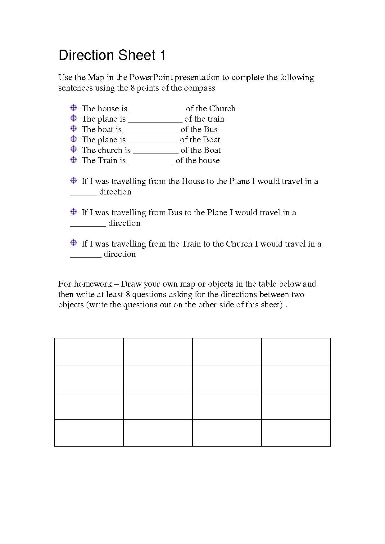 5th Grade Map Worksheets