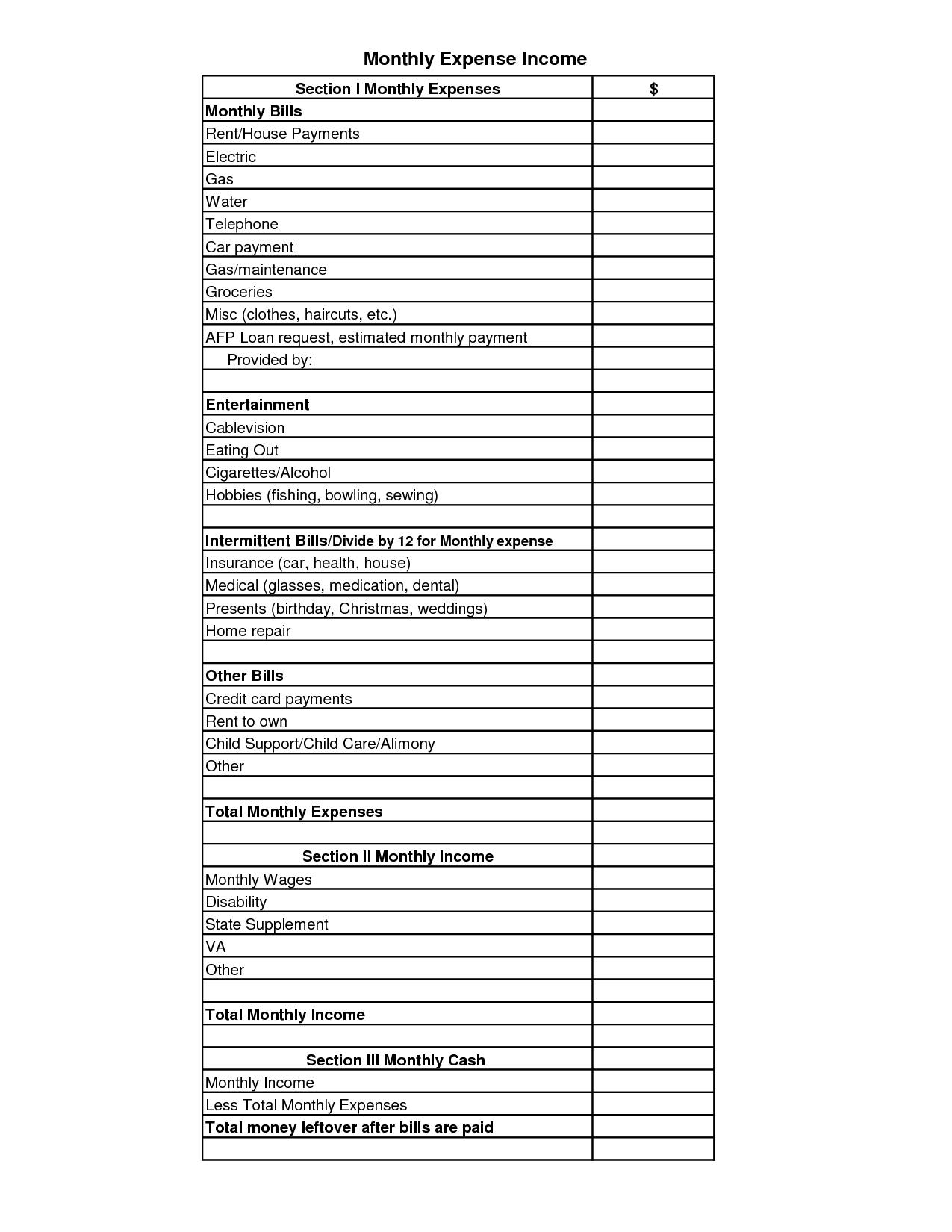 12 Best Images Of Office Budget Worksheet