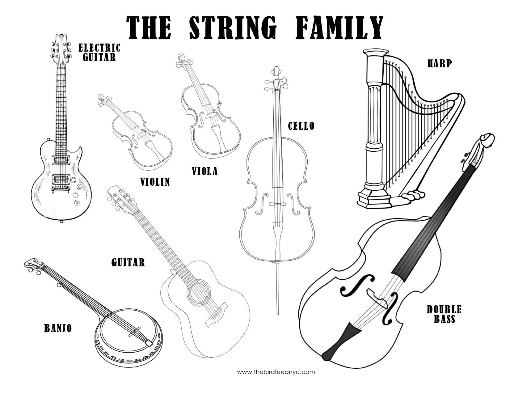 14 Best Images Of Musical Instruments Worksheets For
