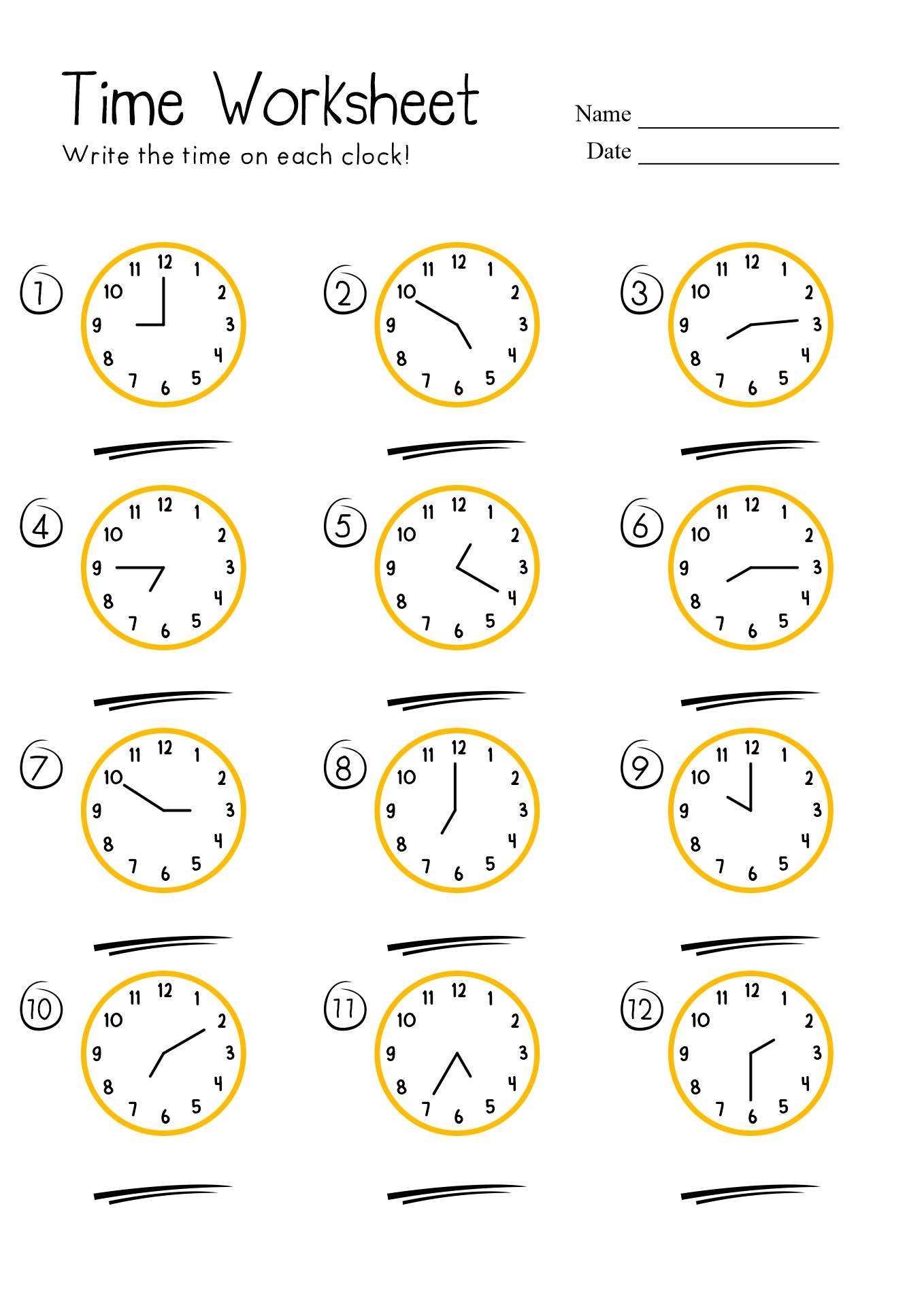 18 Best Images Of Telling Time Worksheets For First Grade