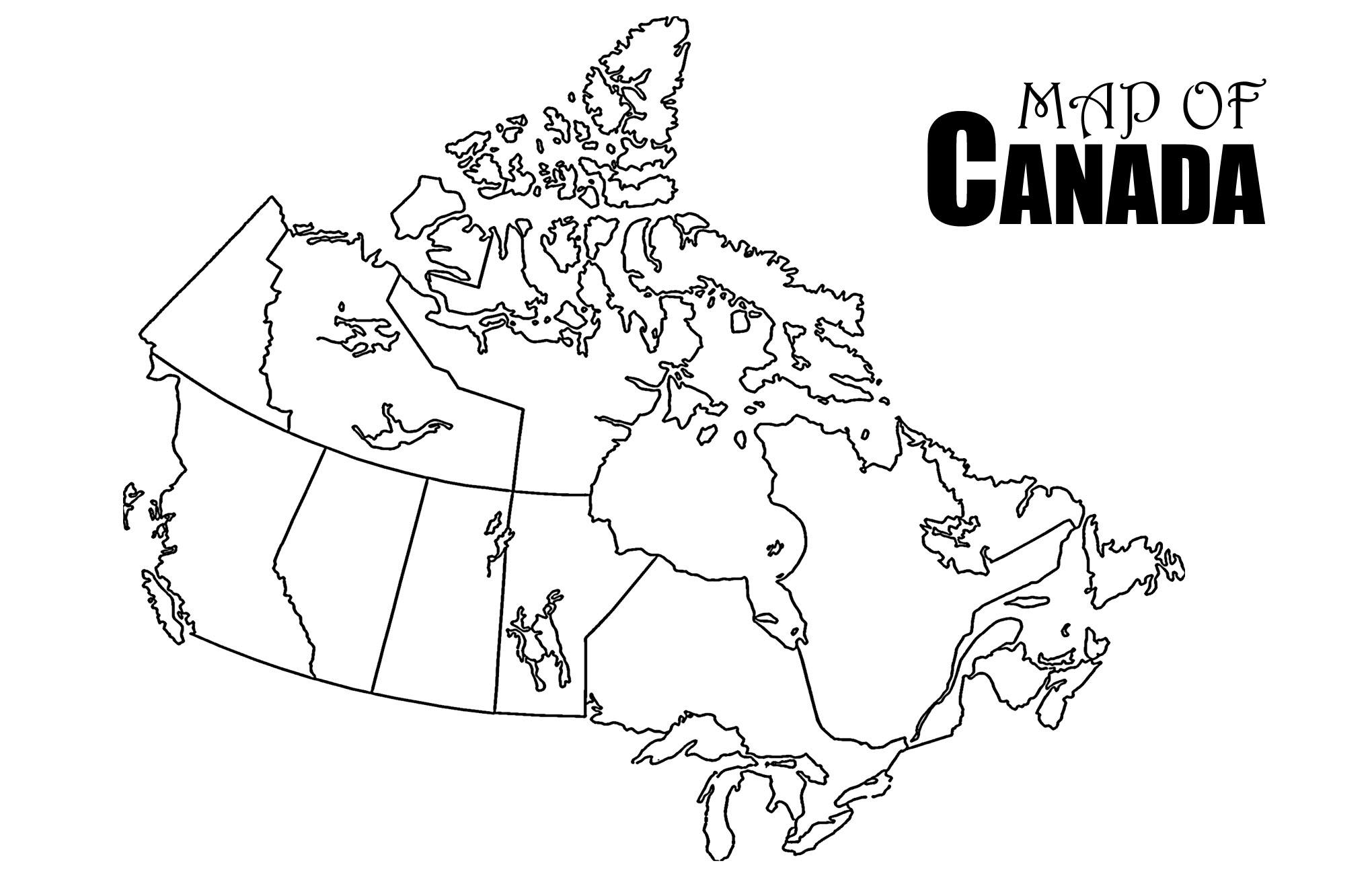 Printable Map Nova Scotia Canada