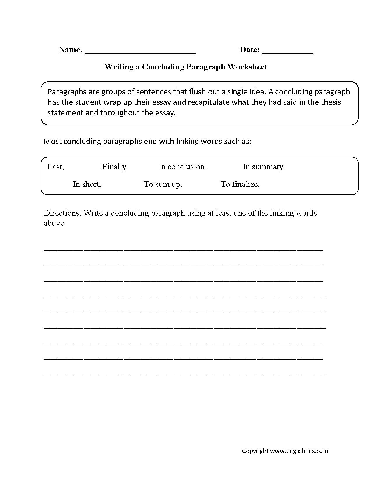 15 Best Images Of Narrative Paragraphs Worksheets