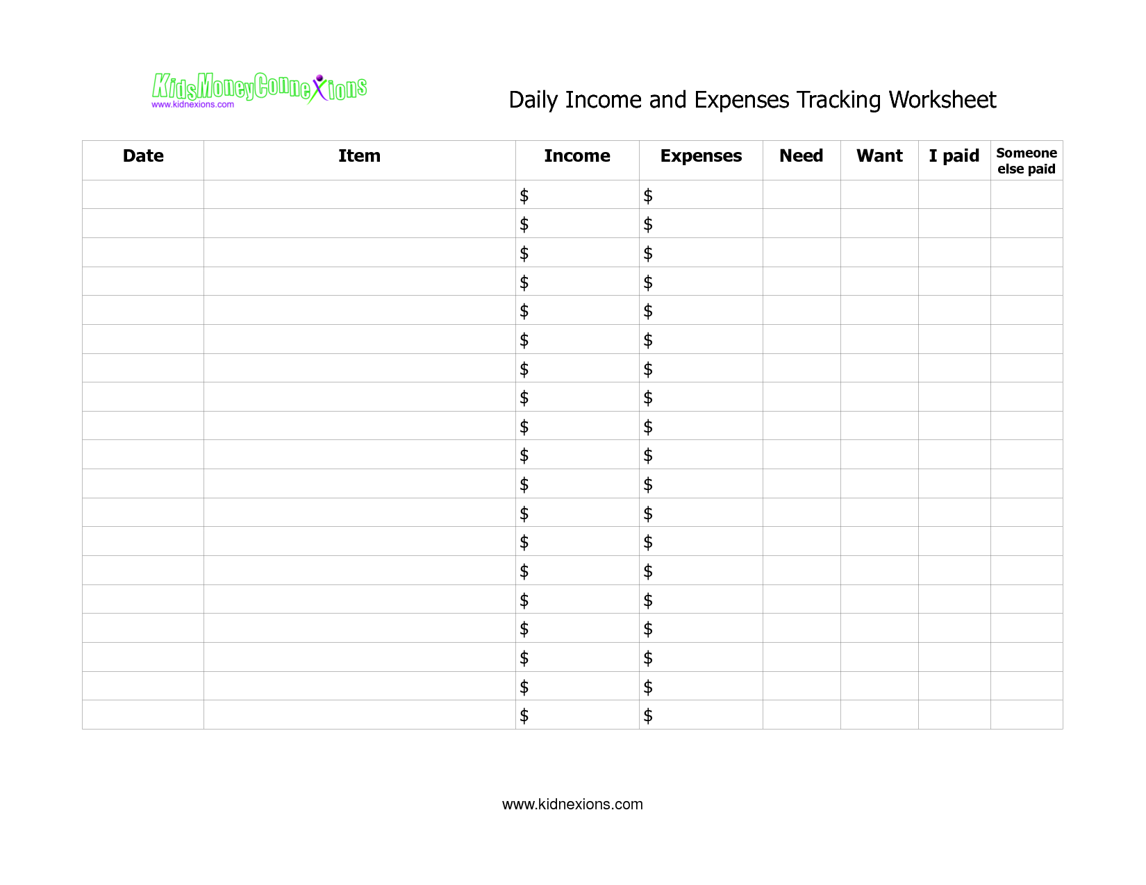 14 Best Images Of Income Statement And Expense Worksheet