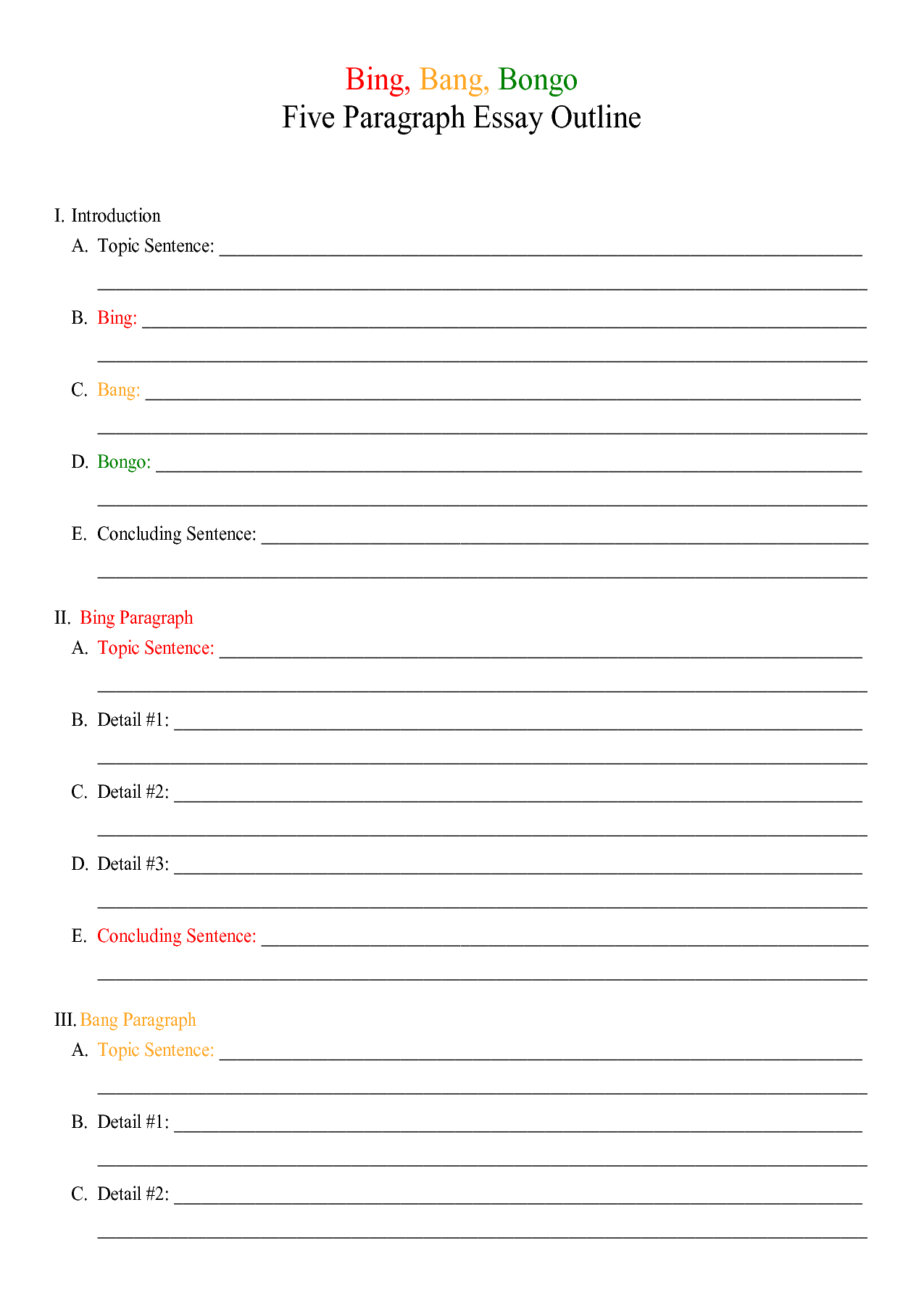 Amazing Cheeseburger Essay Outline