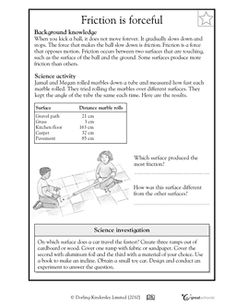 17 Best Images Of Force And Friction Worksheets Elementary