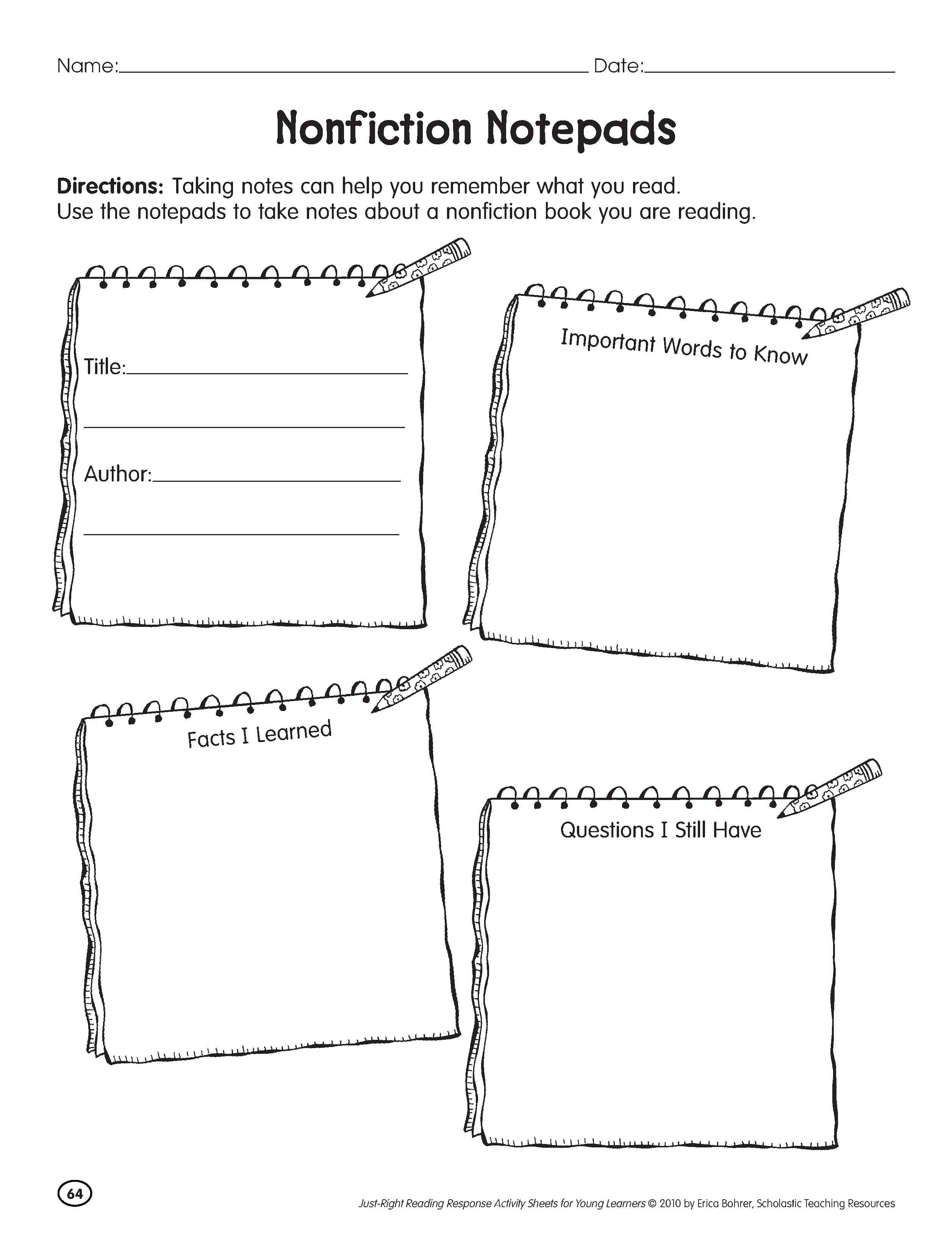 16 Best Images Of Nonfiction Summarize Worksheet