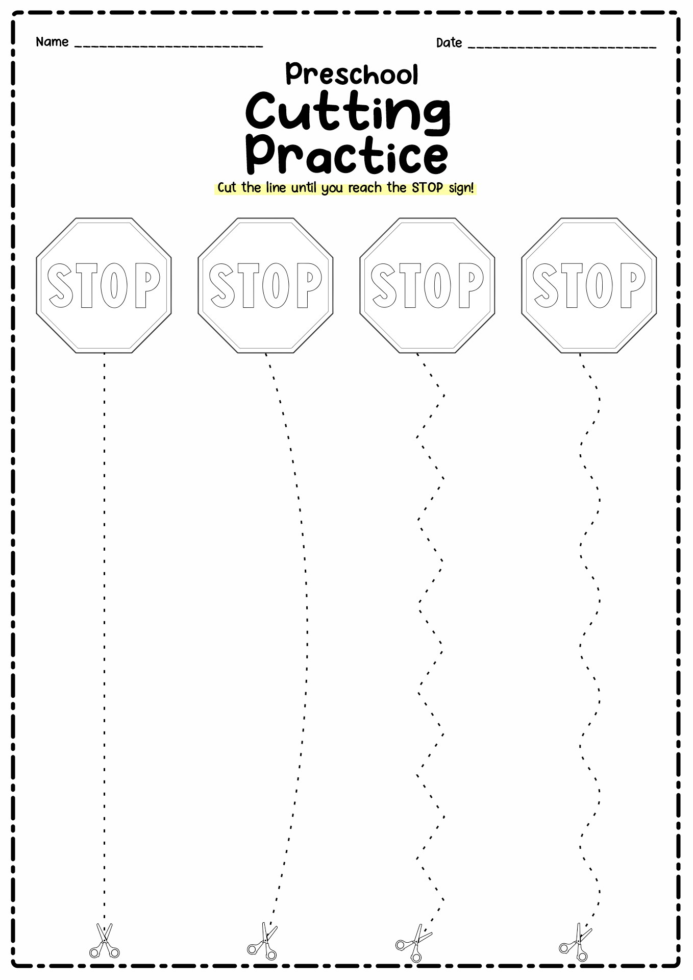 13 Best Images Of Preschool Worksheets Cutting Practice
