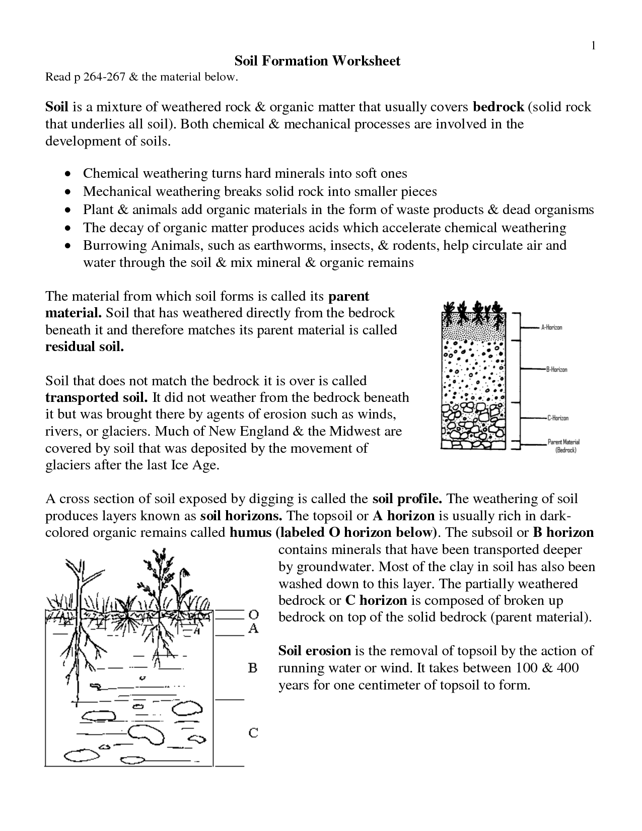 12 Best Images Of Mechanical And Chemical Weathering Worksheets