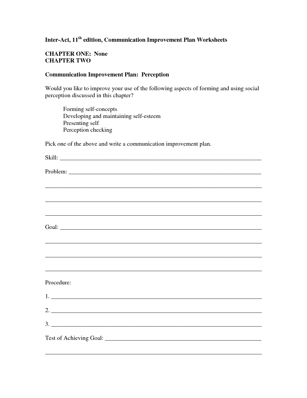 13 Best Images Of Positive Communication Worksheets