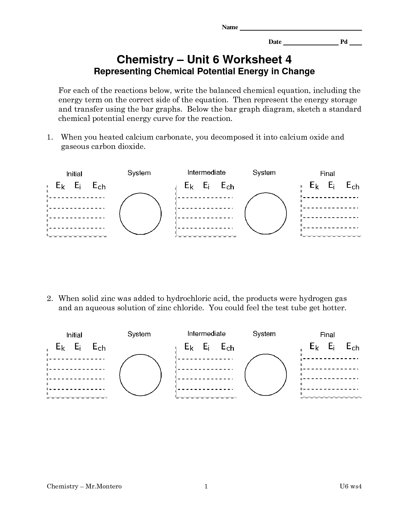 14 Best Images Of Potential Energy Worksheets With Answer Key