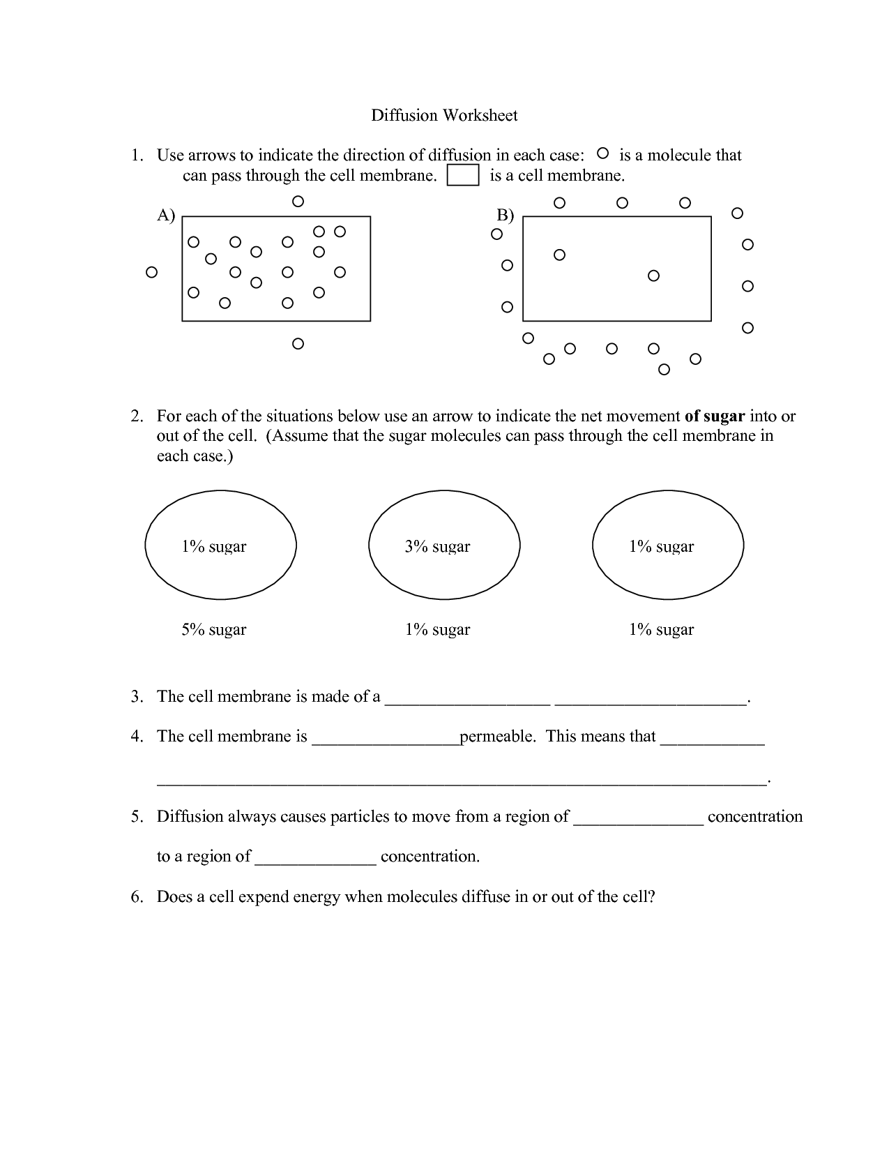 Worksheet Active Transport Worksheet Answers Grass Fedjp