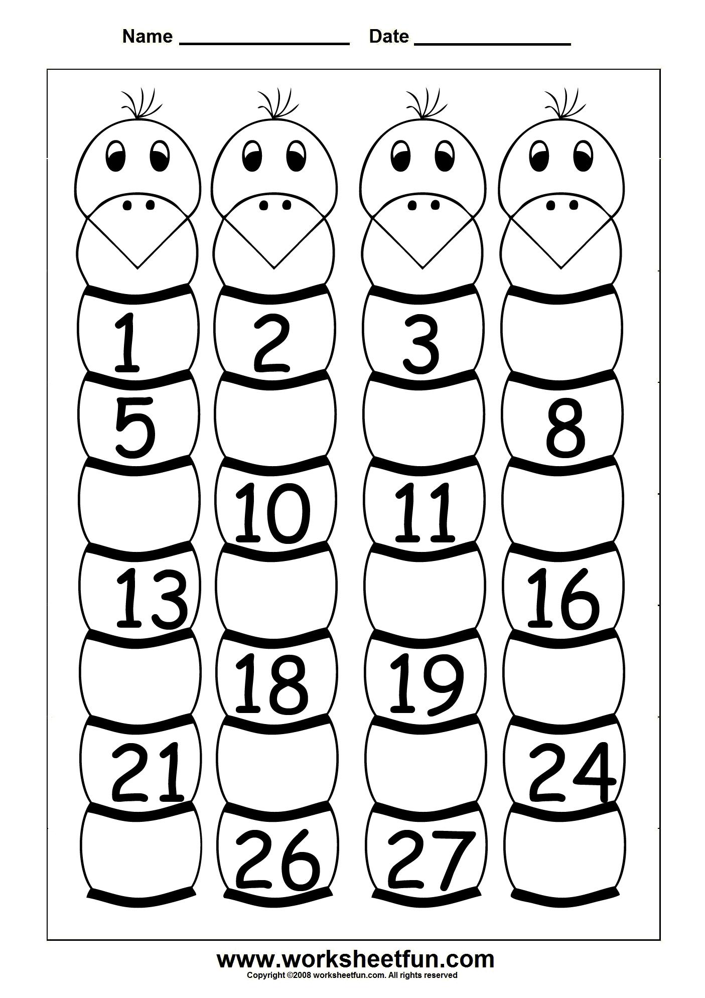 15 Best Images Of Kindergarten Worksheets Numbers 1 30