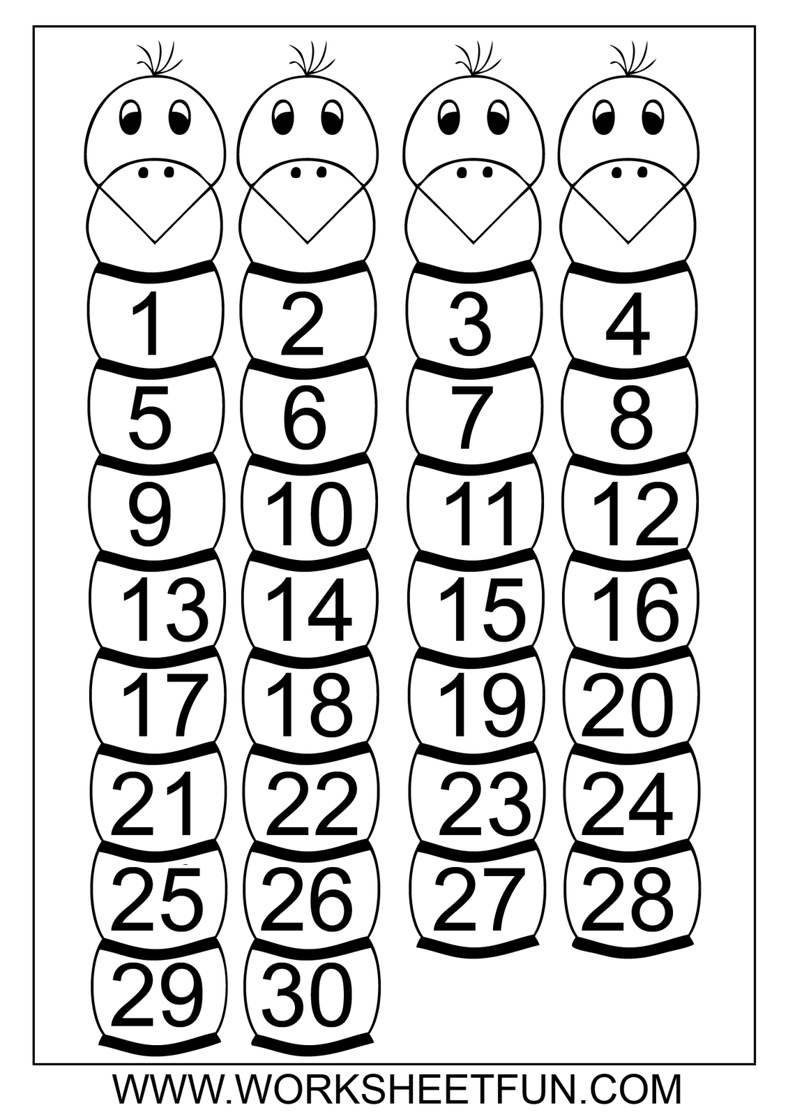 10 Best Images Of Counting Worksheets 1 30