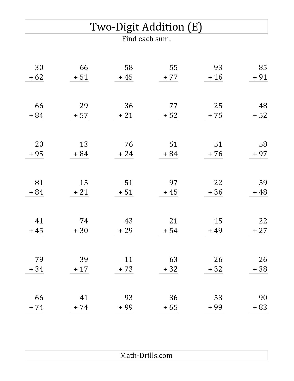 15 Best Images Of Printable Math Worksheets Double Digits