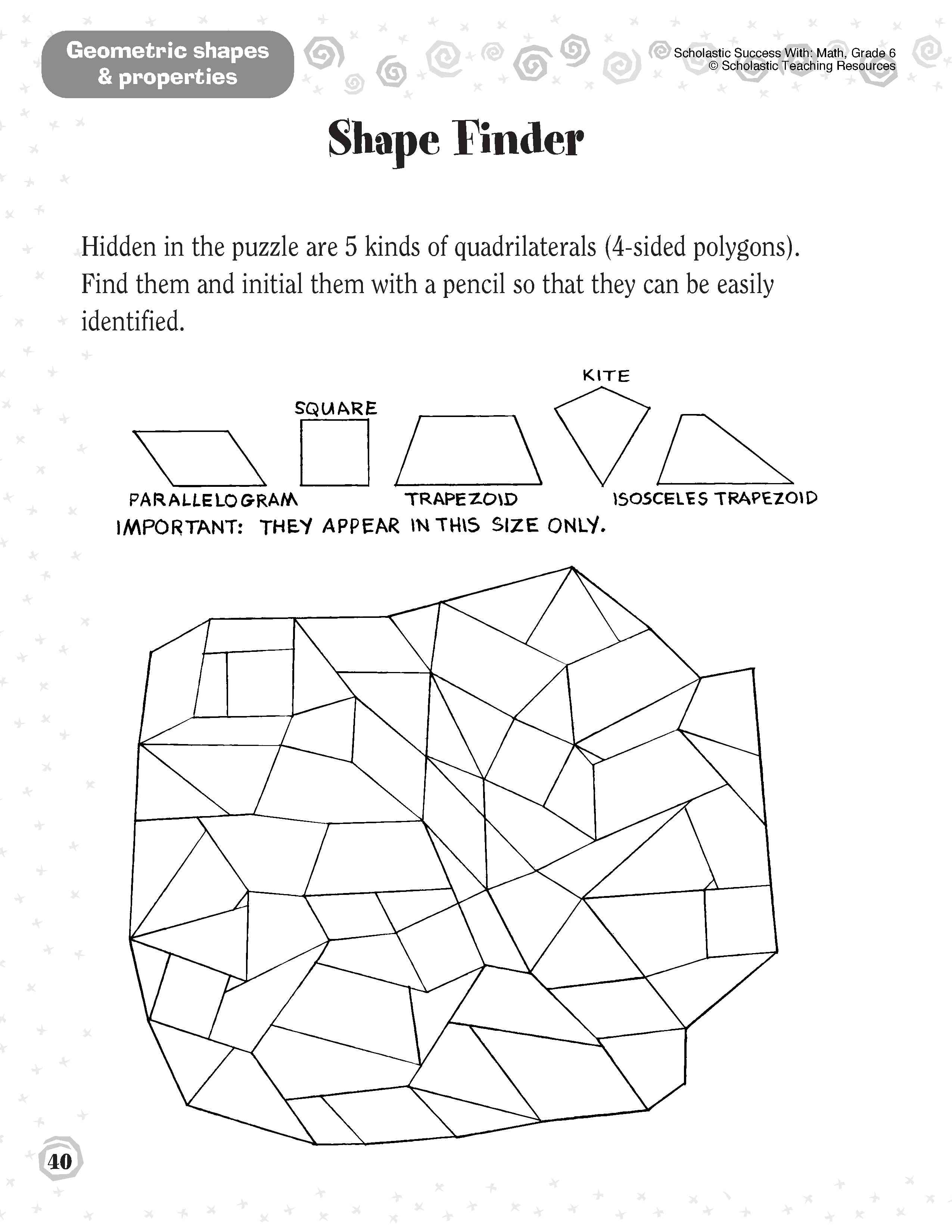 12 Best Images Of Geometry Shapes Worksheets