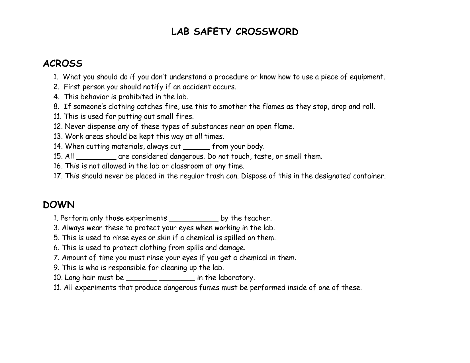 10 Best Images Of Safety Symbols Worksheet