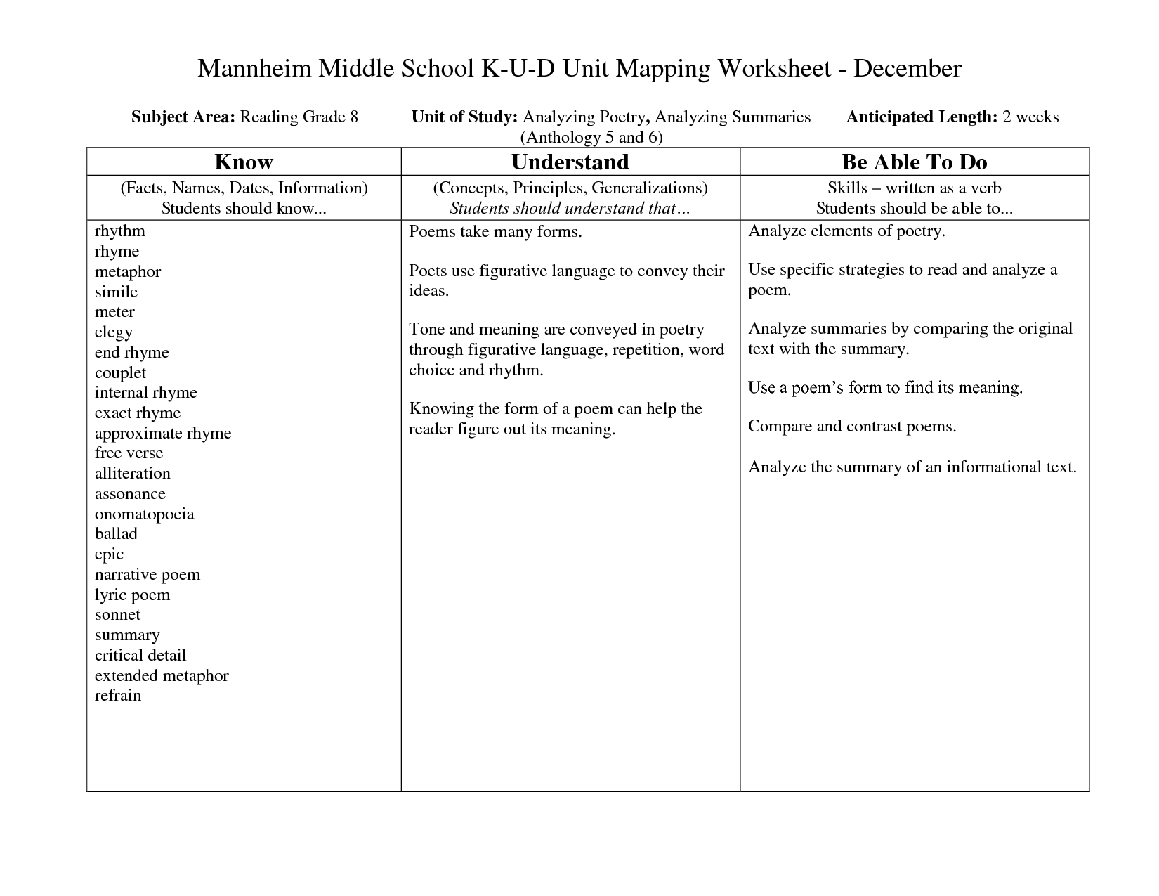 Language Worksheet Category Page 1