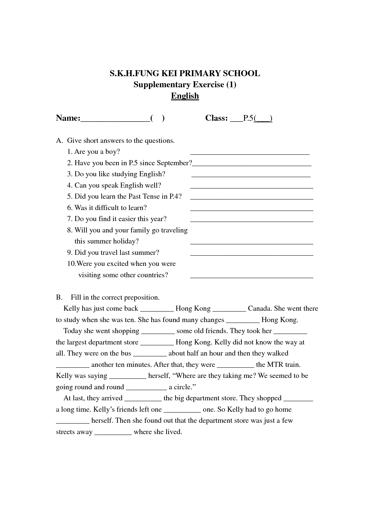 English Worksheet Land