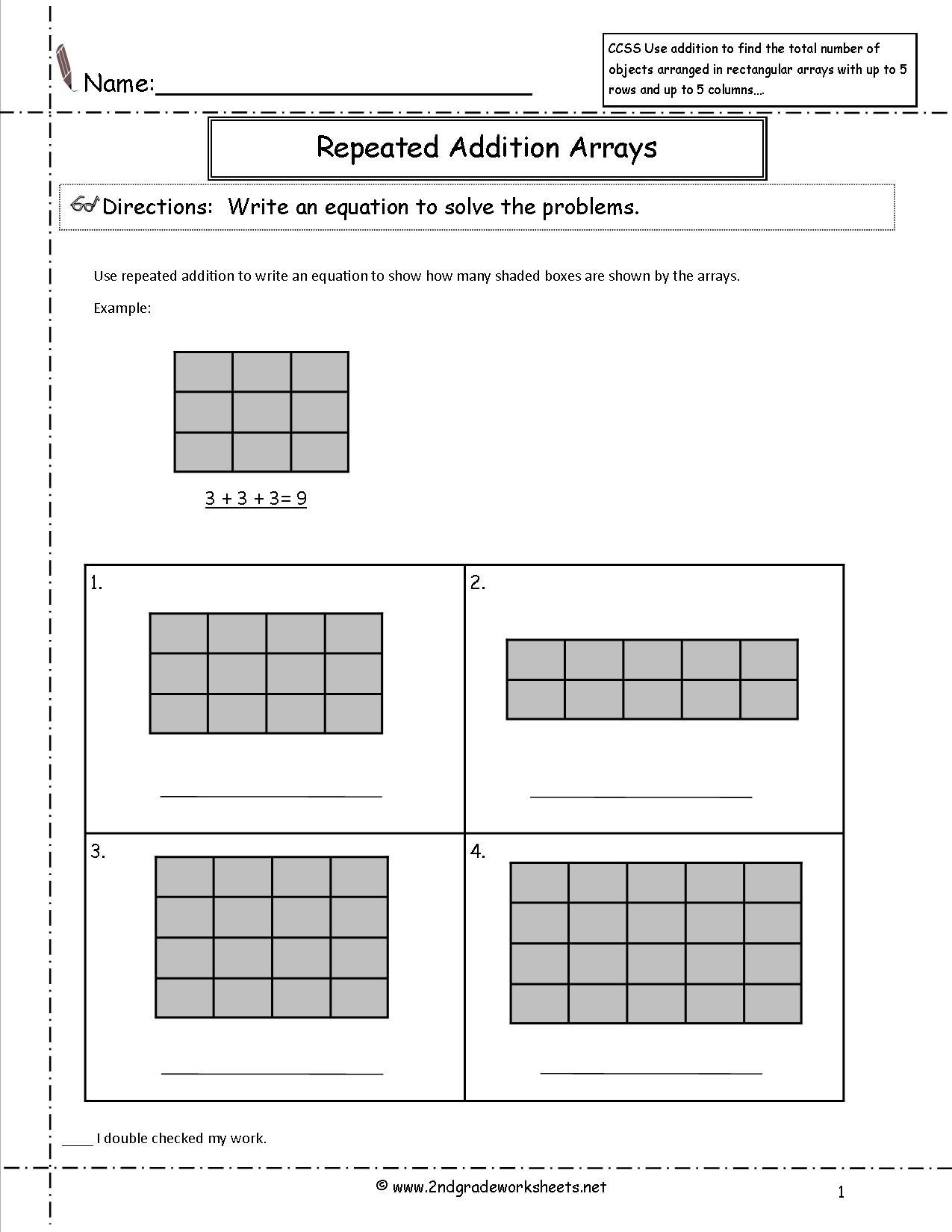16 Best Images Of Repeated Addition Math Worksheets