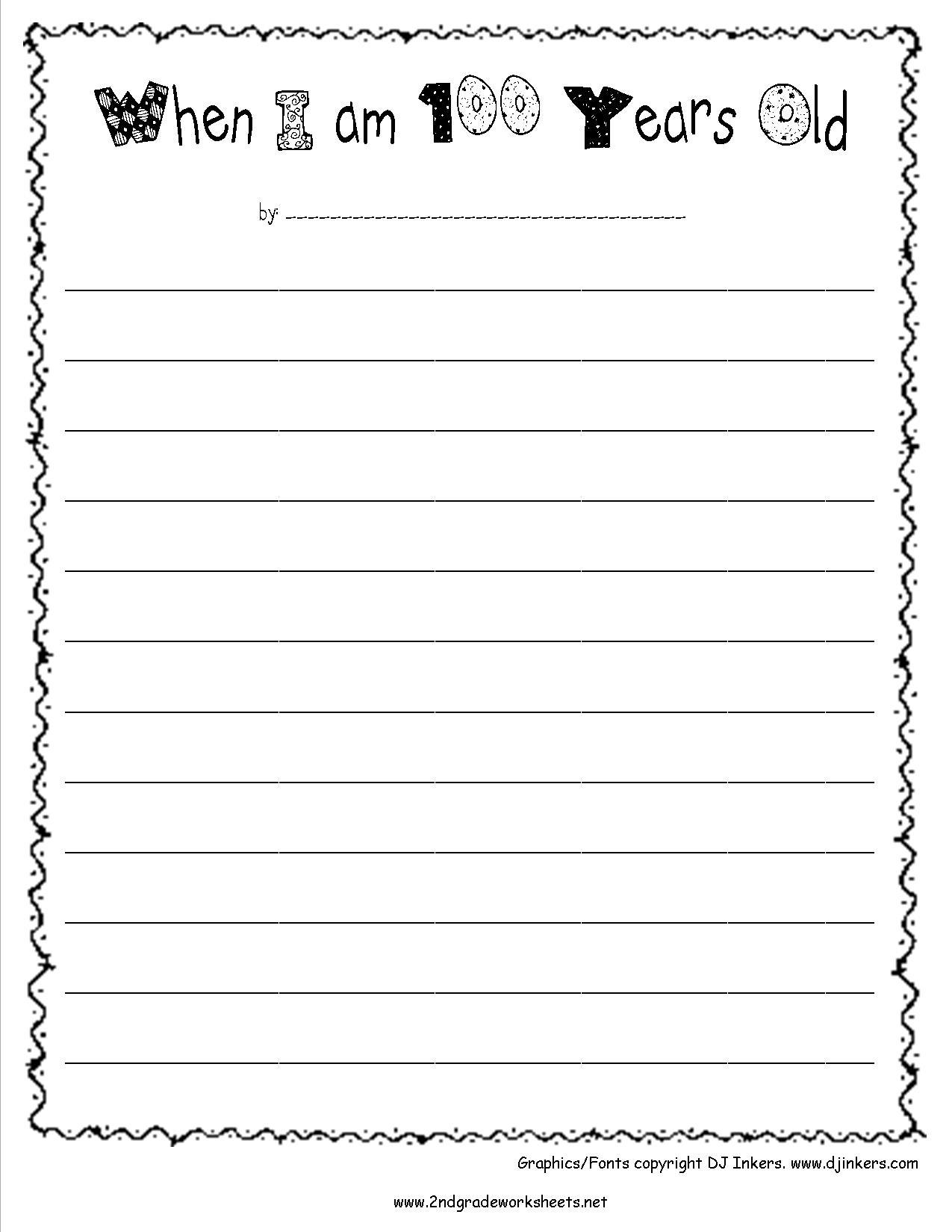 14 Best Images Of 100 Day Worksheets