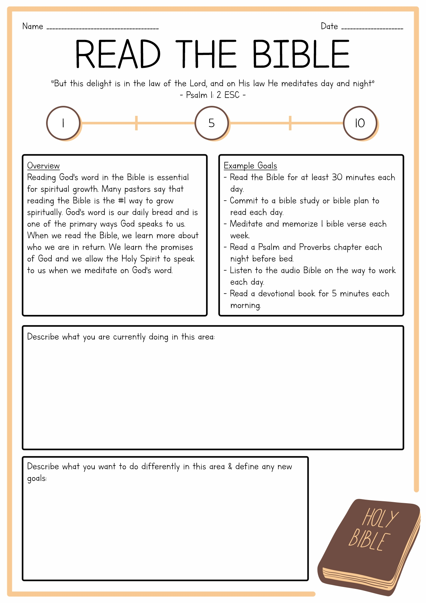 Bible Worksheet On Faith