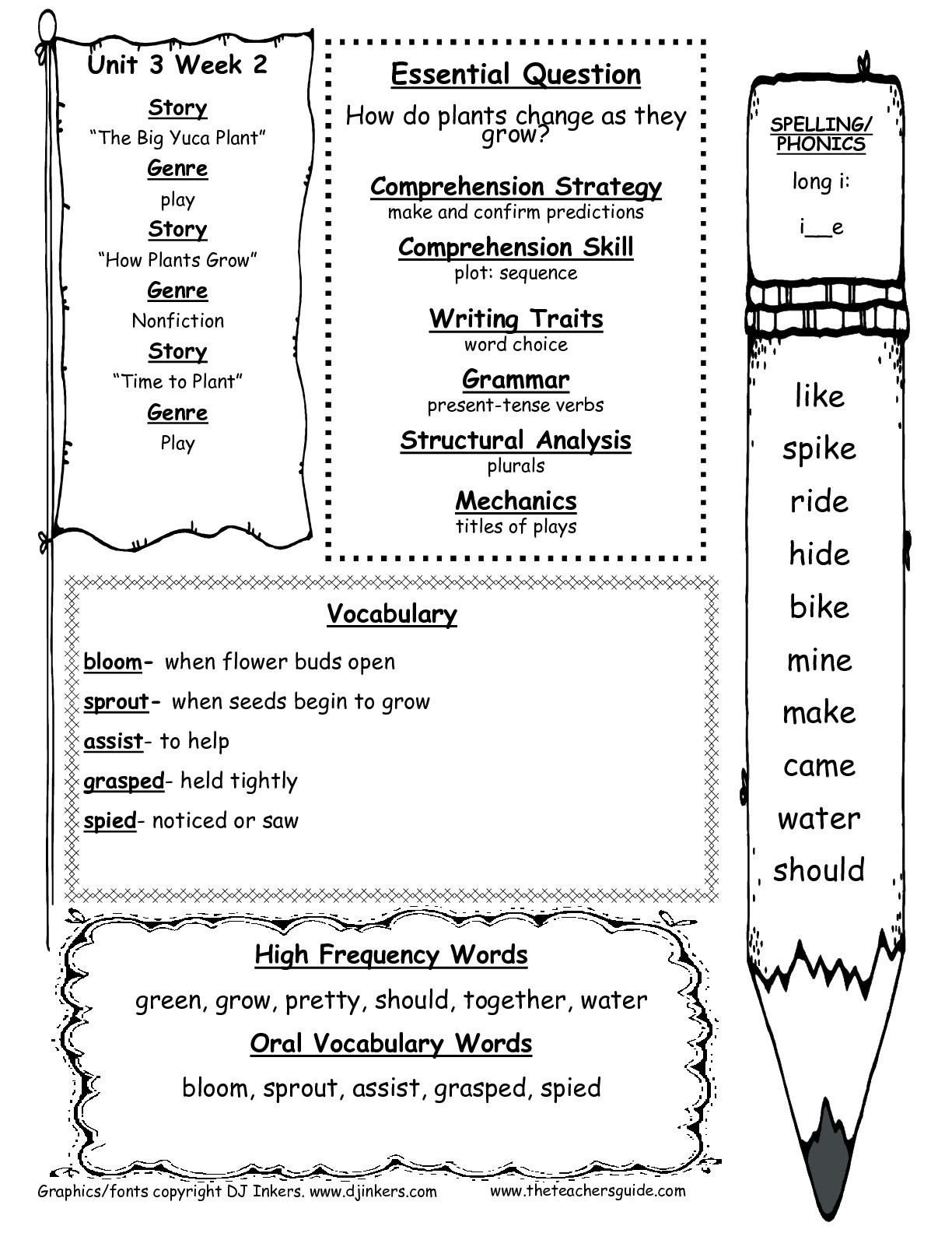 First Grade Language Arts Worksheet